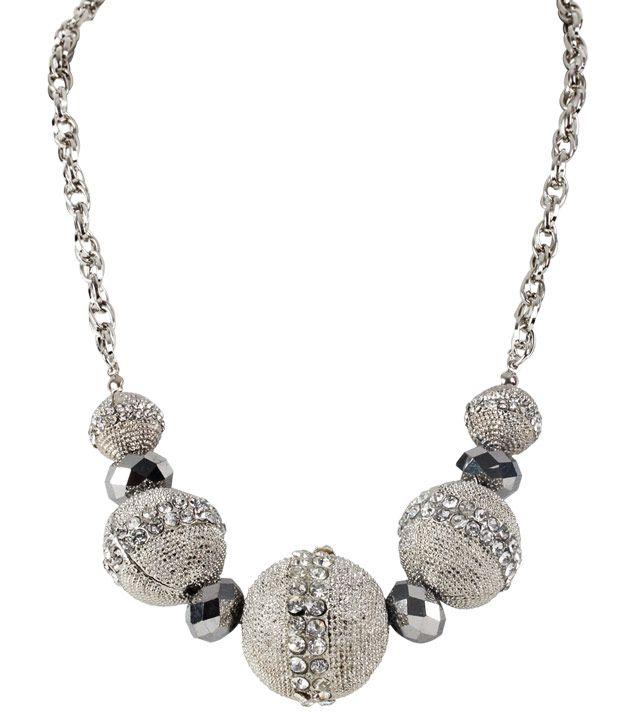 Embellish Silver Balls Necklace