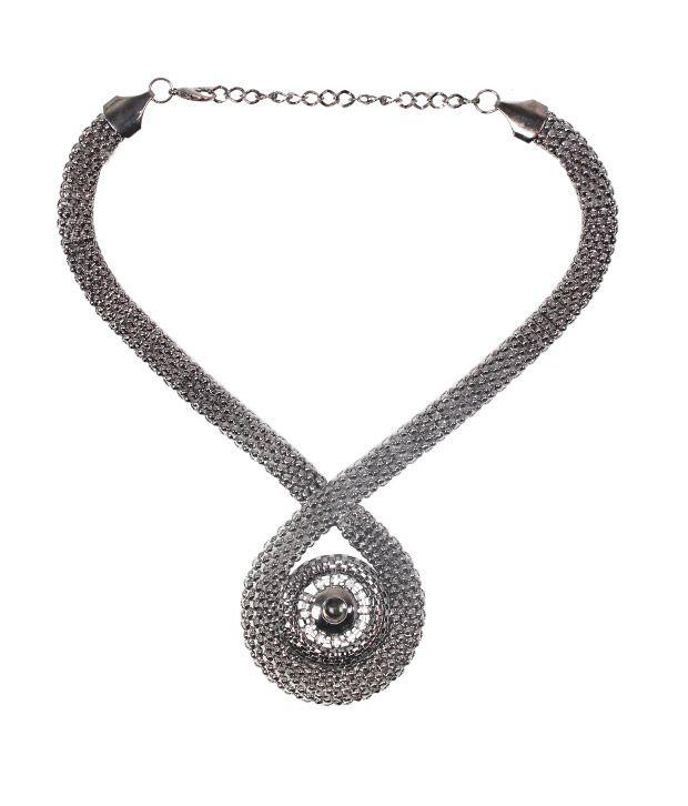 Embellish Metallic Long Necklace