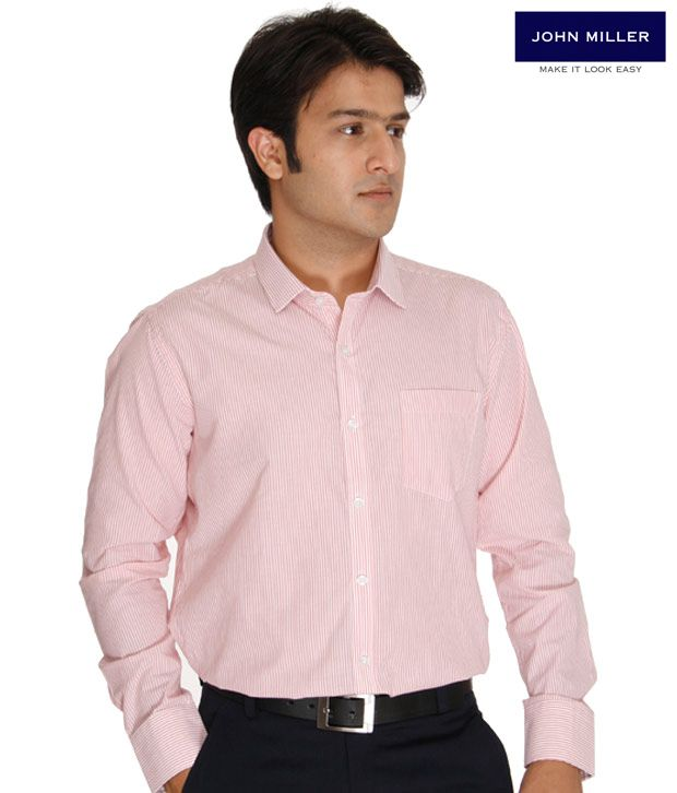 John Miller Pink Striped Shirt