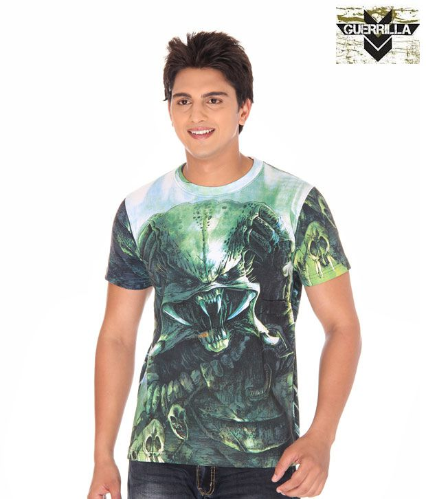 Guerrilla Green Printed T- Shirt