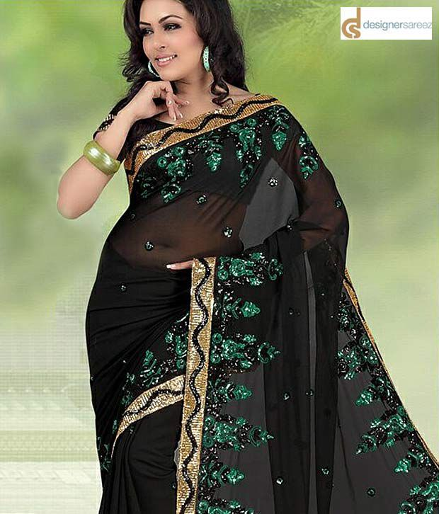 Designersareez Ravishing Black  Saree
