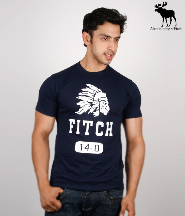 Abercrombie & Fitch Smart Navy Blue T-Shirt