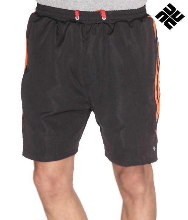 NU9 Casual Black Shorts
