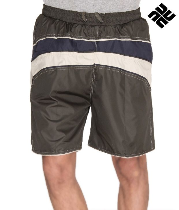 NU9 Striped Front Shorts