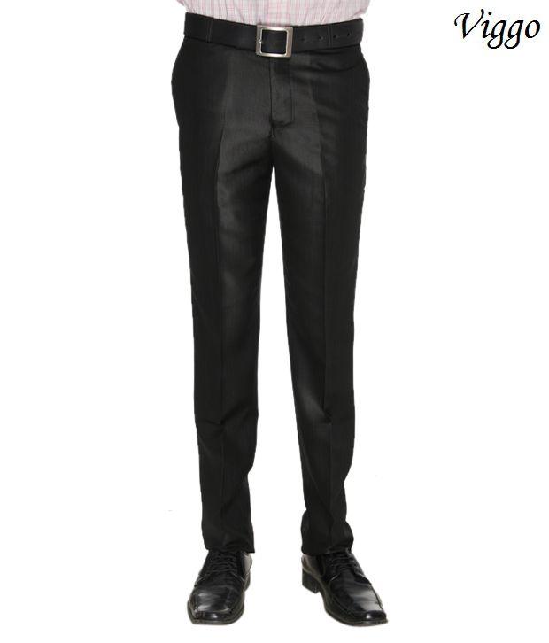 Viggo Classic Black Trousers