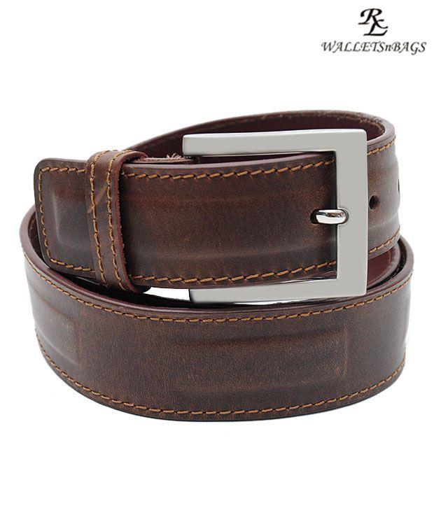 WalletsnBags Stylish Brown Belt