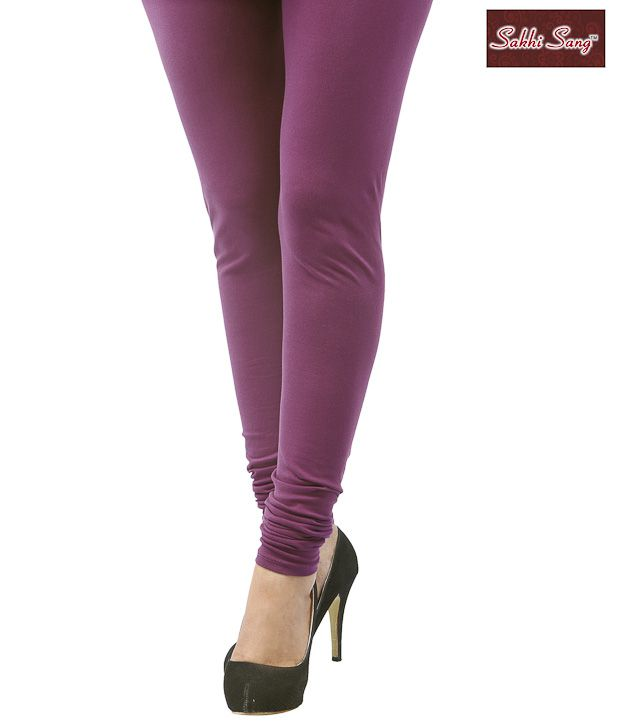 Sakhi Sang Violet Cotton Lycra Leggings