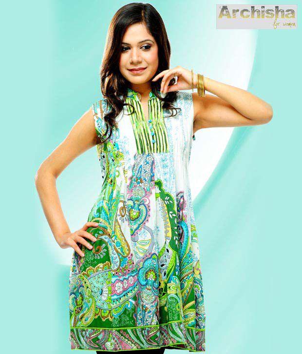 Archisha Assorted  Green Classic Tunic