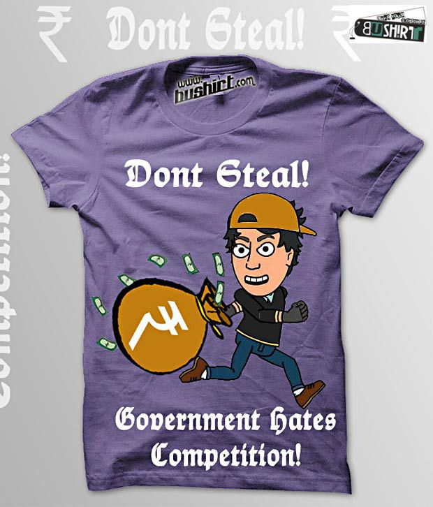 Bushirt Dusky Purple Dontsteal T-Shirt