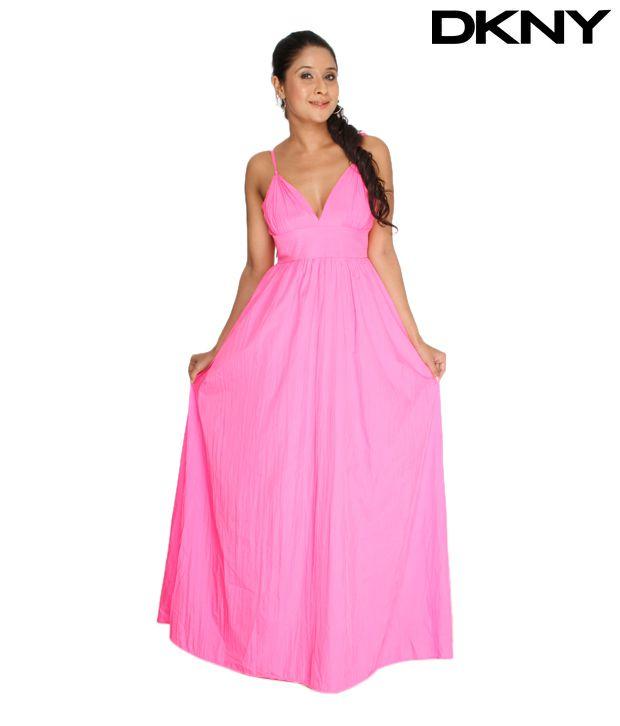 DKNY Feminine Pink Dress
