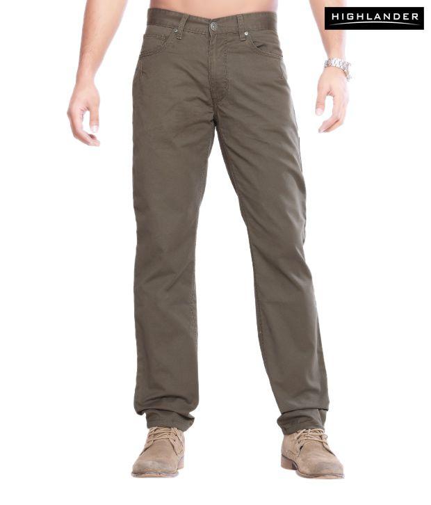 Highlander Army Green Trouser