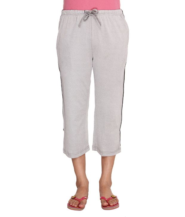 Happy Hours Comfortable Grey Capri