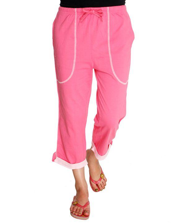 Happy Hours Pink Cotton Pajamas