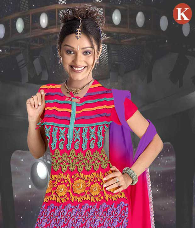 Khazana Multi Color Cotton Unstitched Dress Material