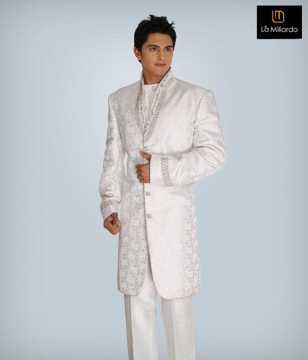 La Miliardo White Imported Fabric Suit