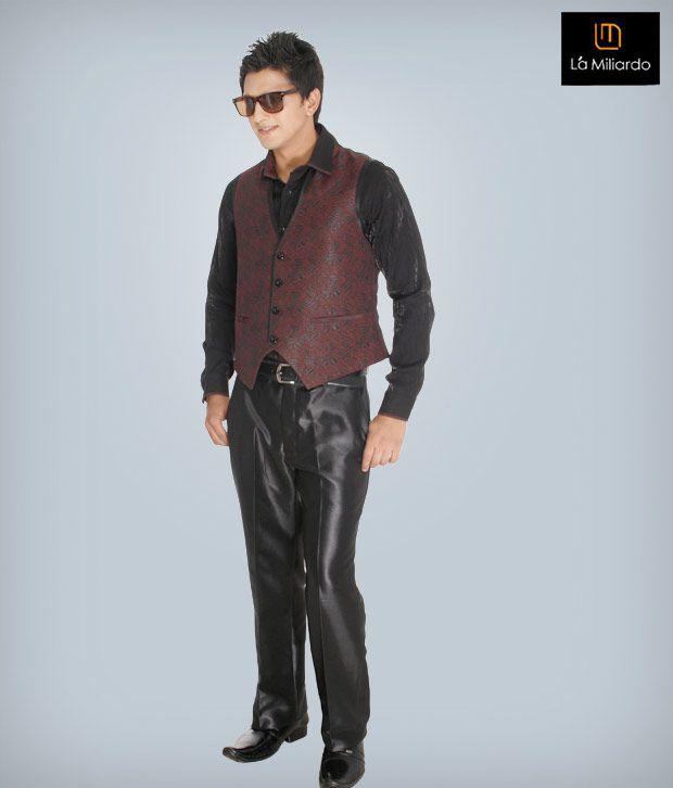 La Miliardo Maroon Imported Fabric 3 Piece Set