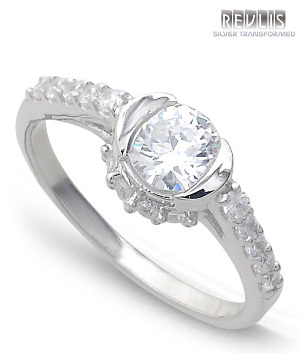 Revlis Charisma Diamond Silver Ring