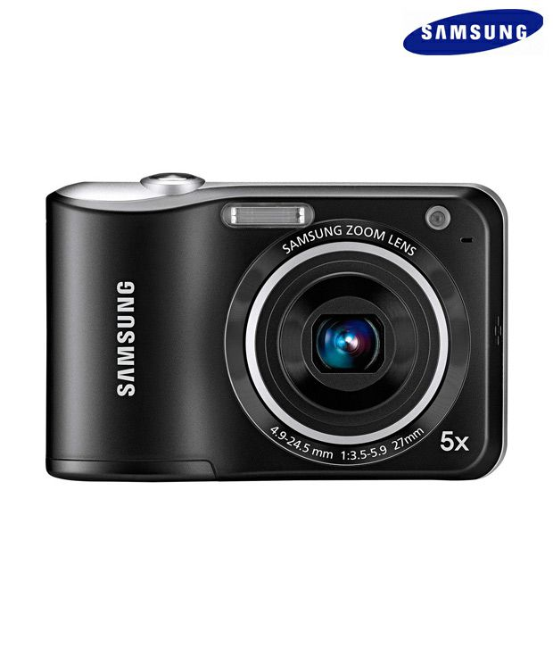 Samsung ES28 12.2MP Point & Shoot Camera (Black) (with Freebie: 4GB SD Card, Pouch, Reebok watch worth Rs.2600)