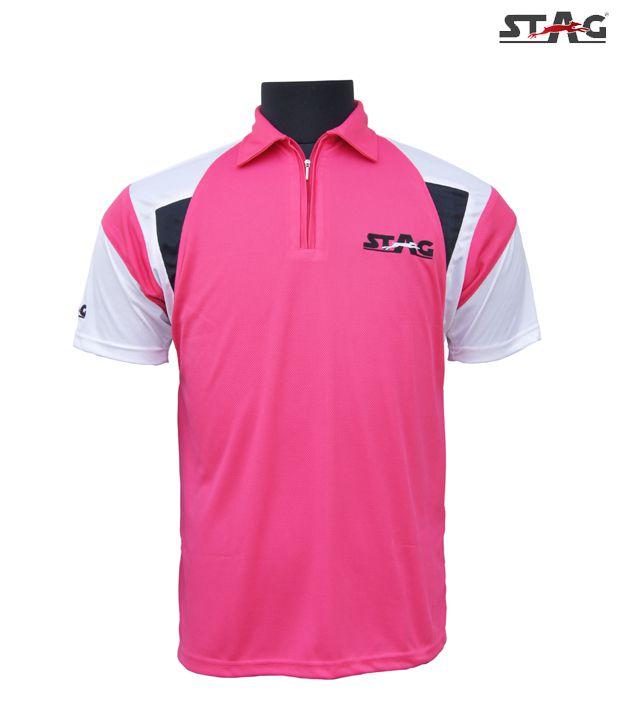 Stag Fuchsia Pink Arrow Polo T-Shirt