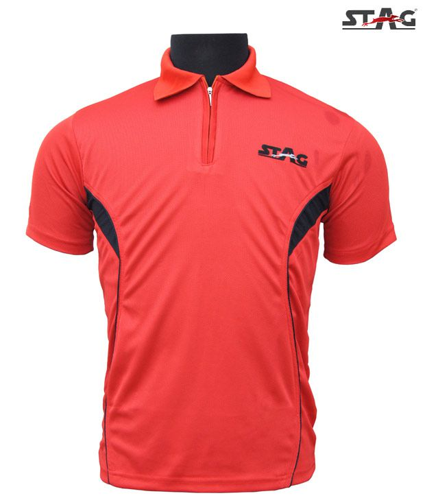Stag Red Basic Training Polo T-Shirt
