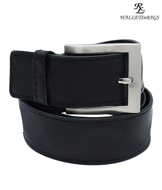 WalletsnBags Stylish Black Belt