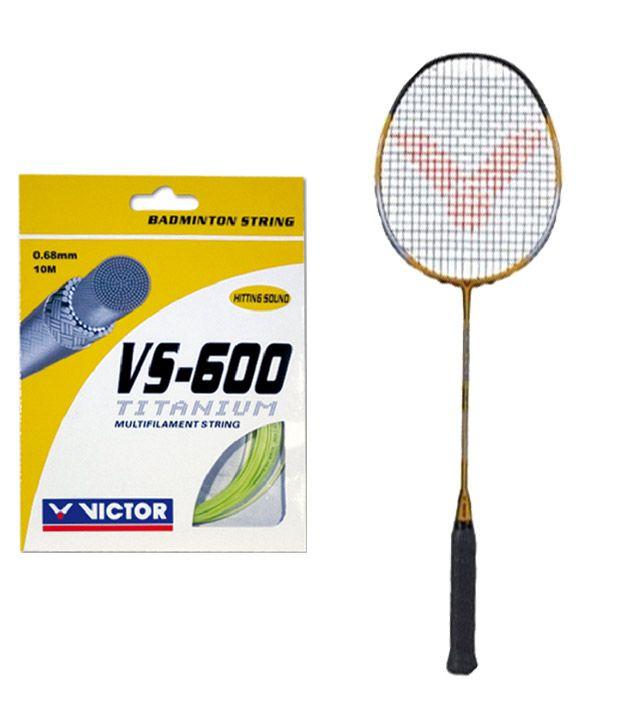 9c5b422596d Victor Slim Hg 70 Badminton Racquet + Victor Vs 600 Badminton String  Buy  Online at Best Price on Snapdeal
