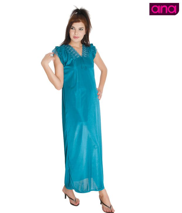 ANA Green Satin Night Wear