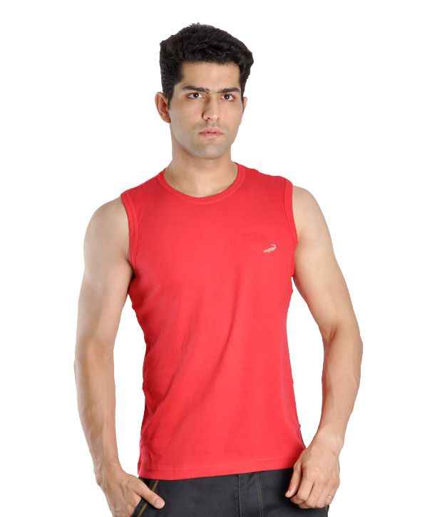 Crocodile Red Cotton Vest