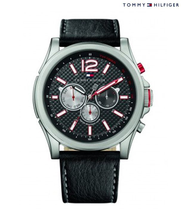Tommy Hilfiger Tommy Hilfiger Black Leather Strap Watch