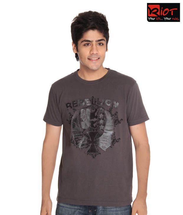 Riot Rebellion Slate Grey T-Shirt