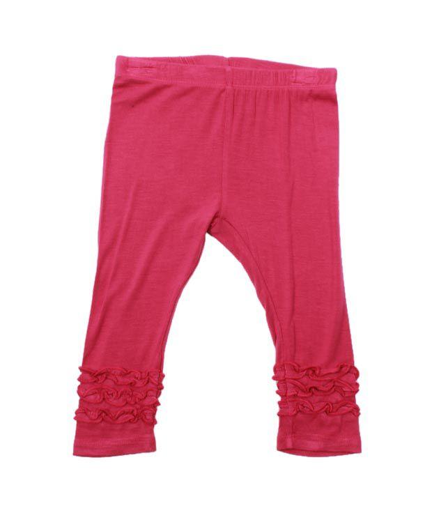 Nauti Nati Dark Pink Pack of 2 Leggings For Kids