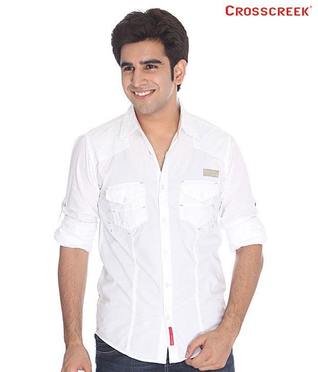 Crosscreek White Cotton Shirt
