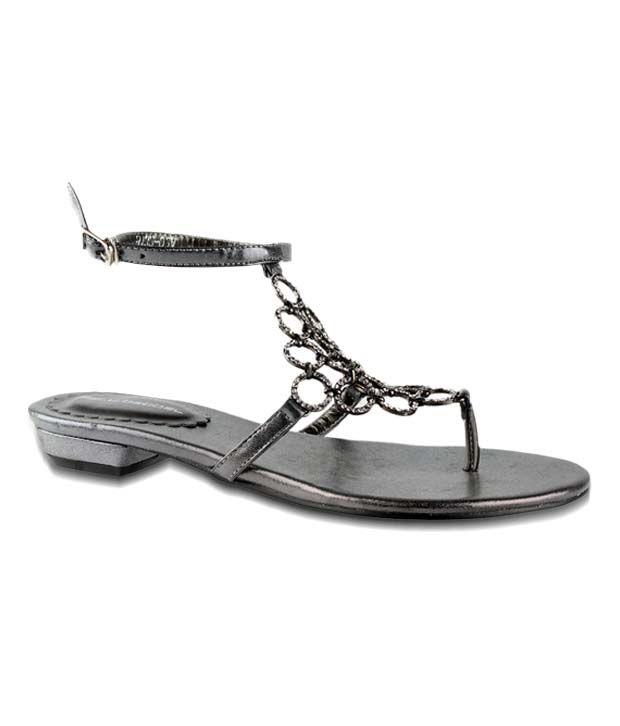 Salt 'n' Pepper Stylish Pewter Grey Sandals
