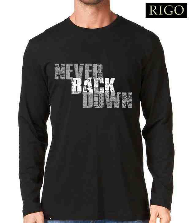 Rigo Black Never Back Down T-Shirt