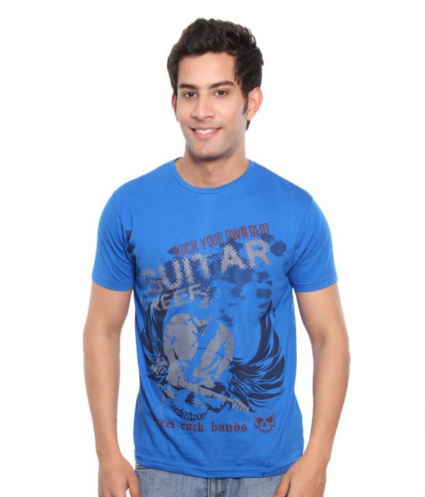 Free Spirit Trendy Royal Blue Men's T-Shirt
