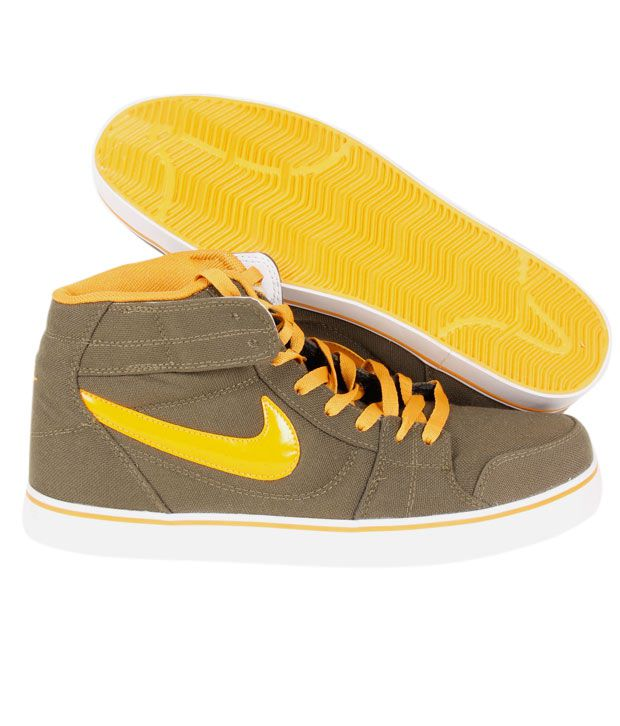 7e16bd219d92 Nike Liteforce Mid Olive Green   Yellow Running Shoes - Buy Nike ...