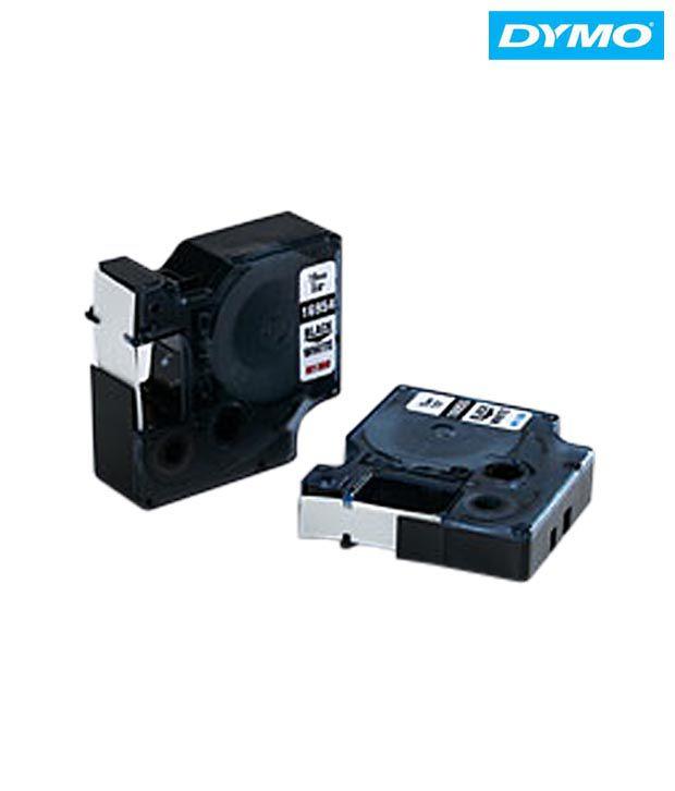 Dymo 12mm B/Cl Tape(5pcs)