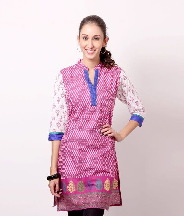 Shree Gorgeous Pink Cotton Kurti