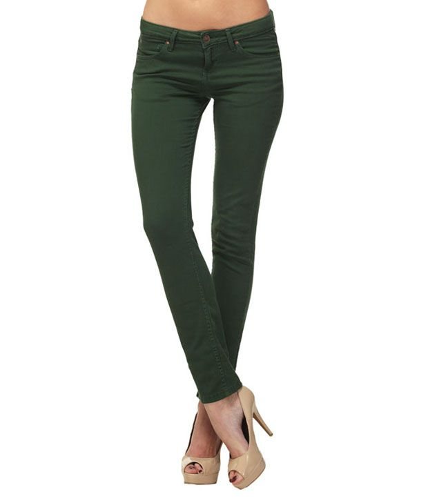 Buy FREECULTR Eve Dark Green Jeans Online at Best Prices in India ...