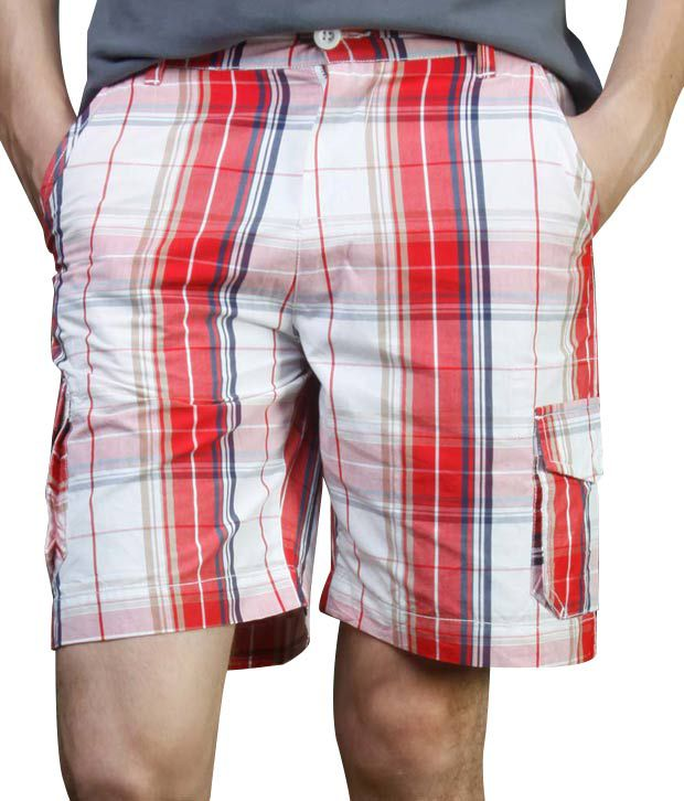 FREECULTR Red & White Checkered Bermuda Shorts