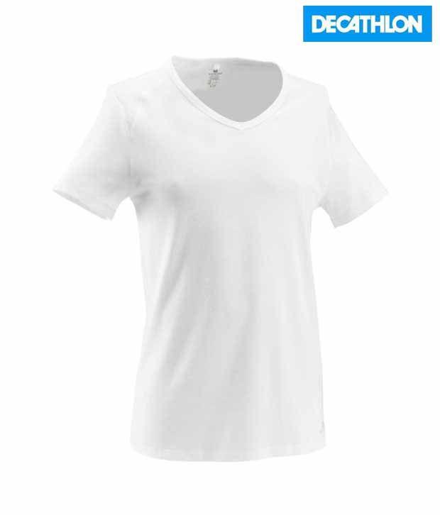 Domyos V Neck Fitness T shirt 8182433