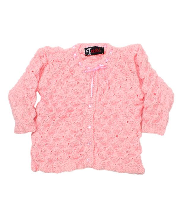 Bunai Pink Hand Knitted Designer Sweater For Kids Buy Bunai Pink