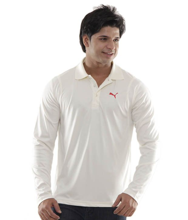 1cbd1c6e Puma Classy Cream Full Sleeves Polo T-Shirt - Buy Puma Classy Cream Full  Sleeves Polo T-Shirt Online at Low Price in India - Snapdeal