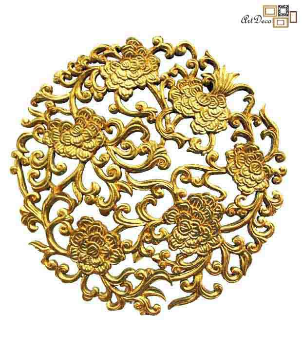 Art Deco Round Carved Gold Leaf Wall Hanging Panel: Buy Art Deco ...