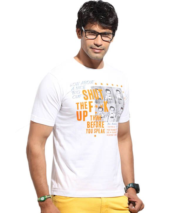 The Indian Garage White Shut Up T-Shirt