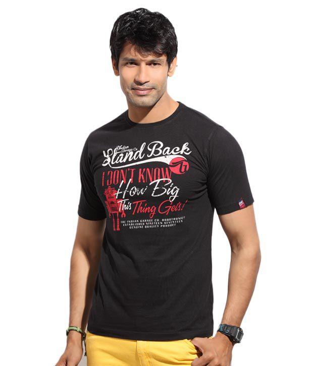 The Indian Garage Vibrant Black T-Shirt