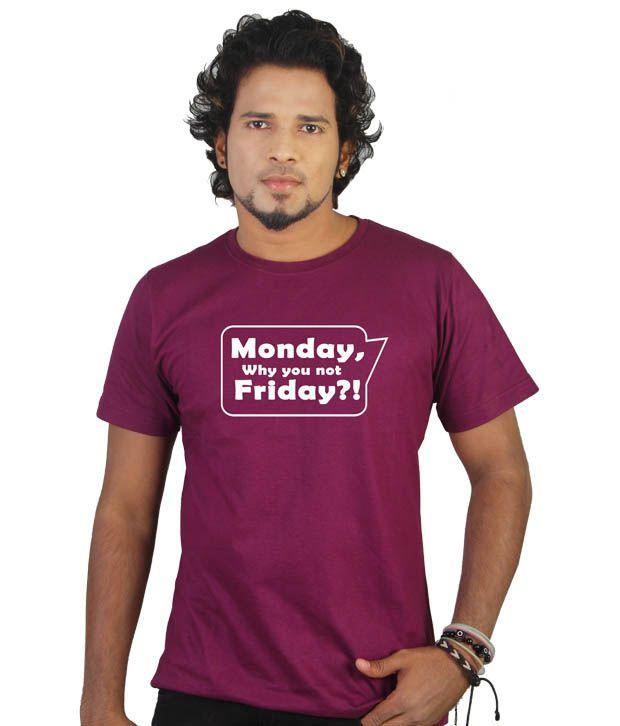Tekki Purple Monday- Friday T-Shirt