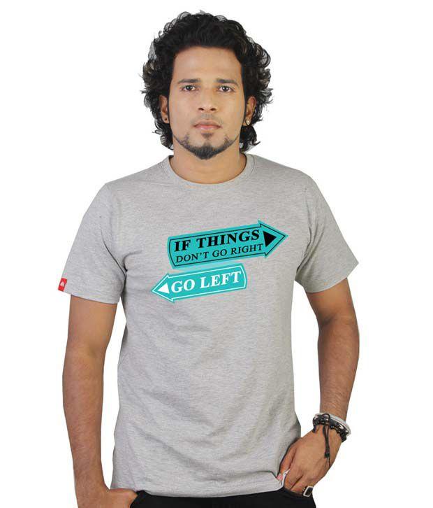 Tekki Grey Melange If Things Don't Go Right T-Shirt