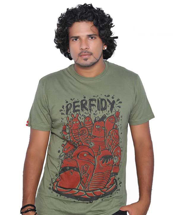 Tekki Cool Olive Green Men's T-Shirt
