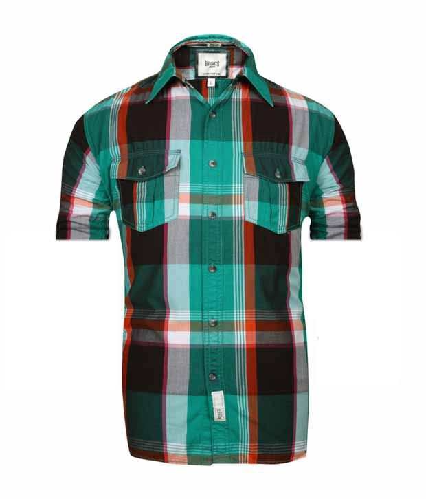 Basics 029 Green Checkered Shirt